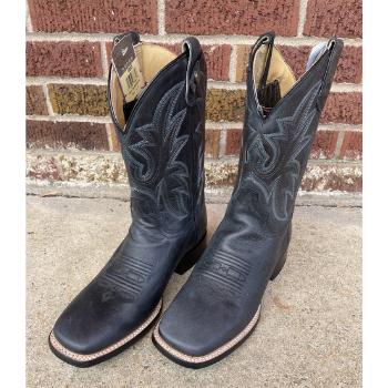 image of Roper Men's Leather Concealed Carry Boot in Burnished Black Loaded Black Square Toe
