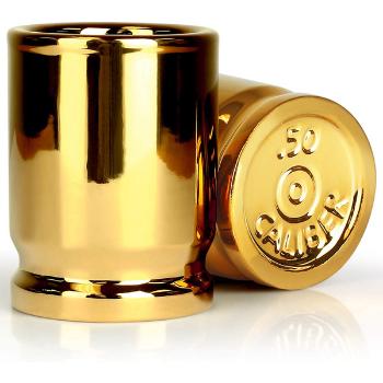 Barbuzzo 50 Cal Shot Glass Good Gifts For Gun Enthusiasts
