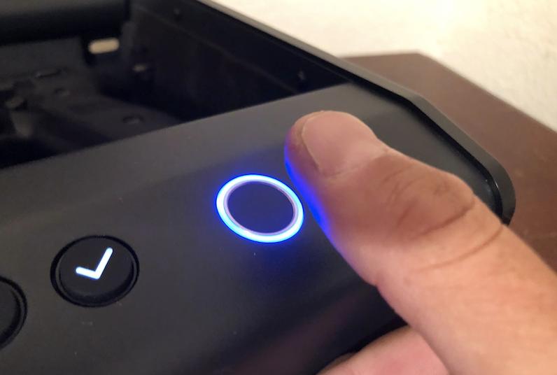 Fingerprint Blue Light
