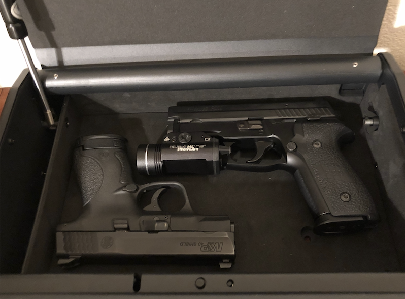 two guns in safe